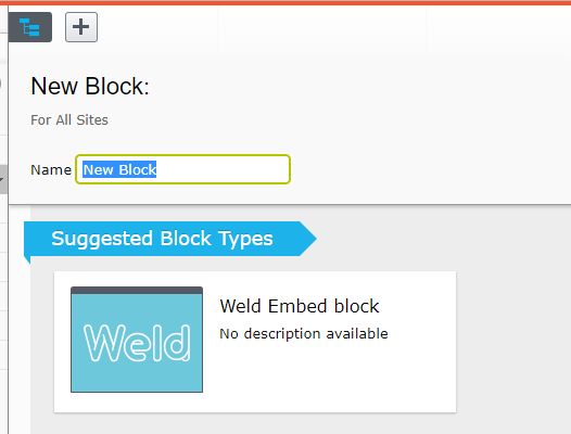 Create Weld block in Episerver